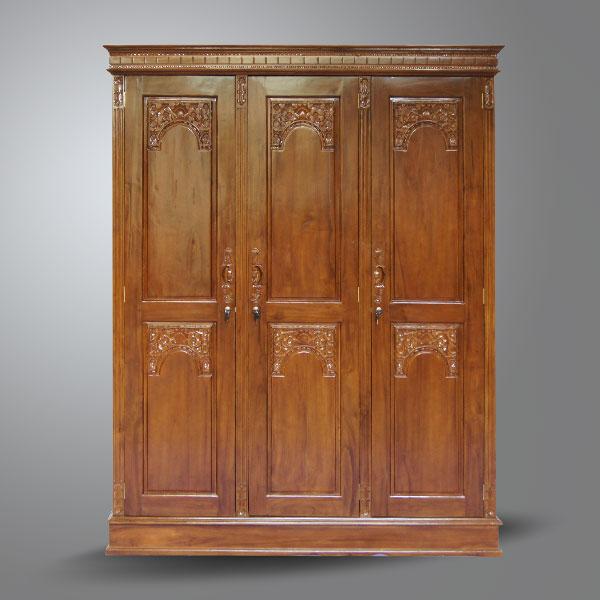 Quadra Teak Wardrobe 3 Doors Teak Classic Furniture Teak